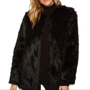Jack by BB Dakota Black Faux Fur Jacket